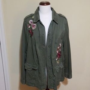 Torrid Floral Military Jacket
